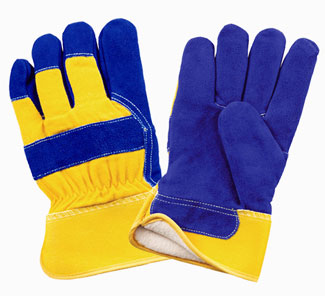 1530PL BLUE & YELLOW LEATHER PALM
